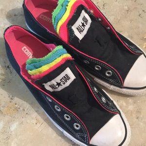 Rainbow Multi-Tongue Converse NWOT
